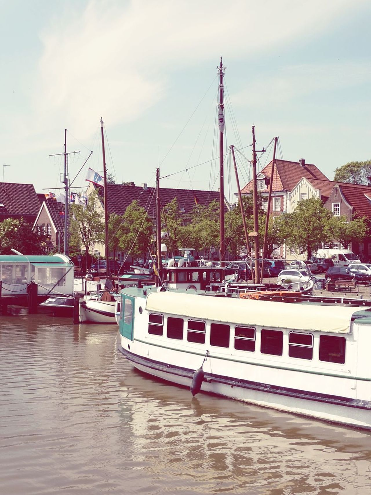 Nautical Vessel Cloud - Sky Moored Mode Of Transport Transportation Water Landscape Sky Travel Destinations Harbor Sea Day Outdoors Ship City Cityscape Harbor Urban Exploration Taking Photos Nature Leer (Ostfriesland) Myhometown Architecture