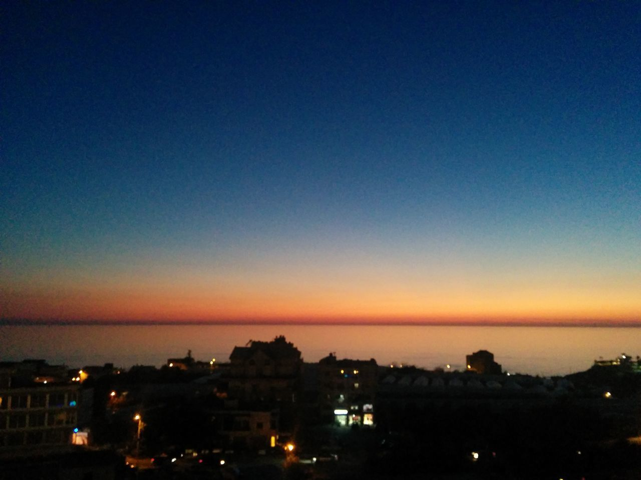 Dusk Sky In Byblos Sunset Sky City Building Exterior Night Outdoors Beauty In Nature Scenics No People Nature Illuminated Cityscape