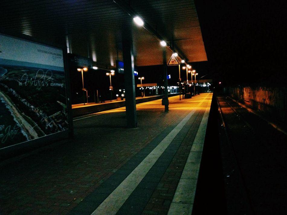 Waiting Train Station Midnight