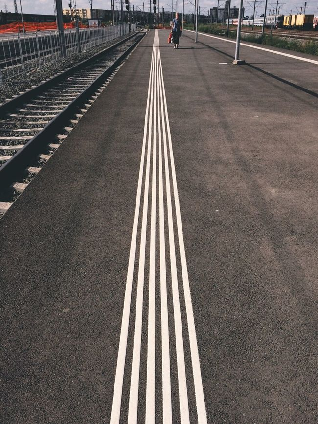 Follow the line... Streetphotography Having Fun Check This Out ShotOnIphone Hello World Outdoors Hanging Out Enjoying Life Made In Romania EyeEm Best Shots Sun Eye4photography  Relaxing Traveling Vscocam IPhoneography Taking Photos Summer Train Station Sunny Day