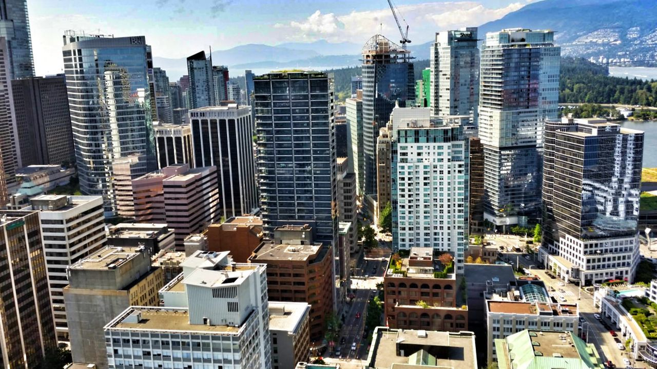 Memories of my trip to canada.was an impressive trip. Beautiful country and people. City Skyscraper Building Exterior Architecture Cityscape Outdoors Development Urban Skyline City Life Sky Travel Destinations Modern Day No People Downtown District Vancouver Vancouver BC
