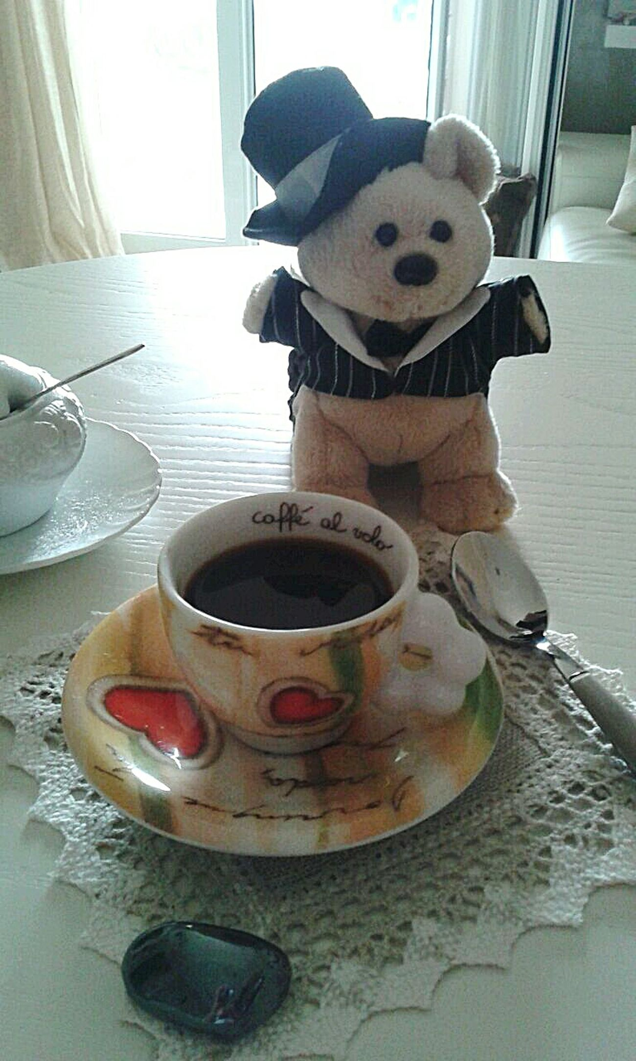 Colazione Breakfast ♥ Coffee ☕ Coffee Time Coffee Break Coffee And Sweets Funny Smile :)