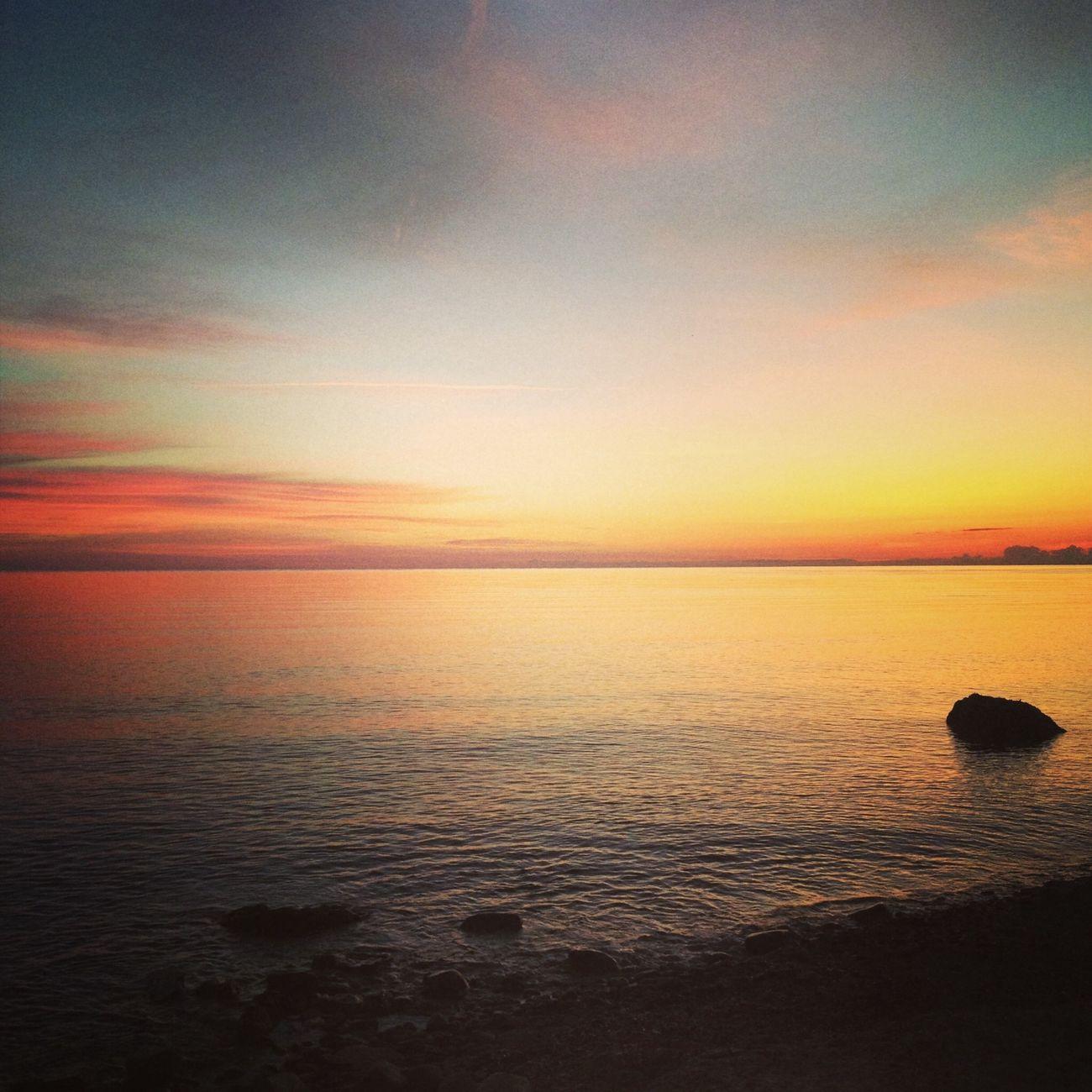 Incandescent Sunrise Sardegna Sea Sky