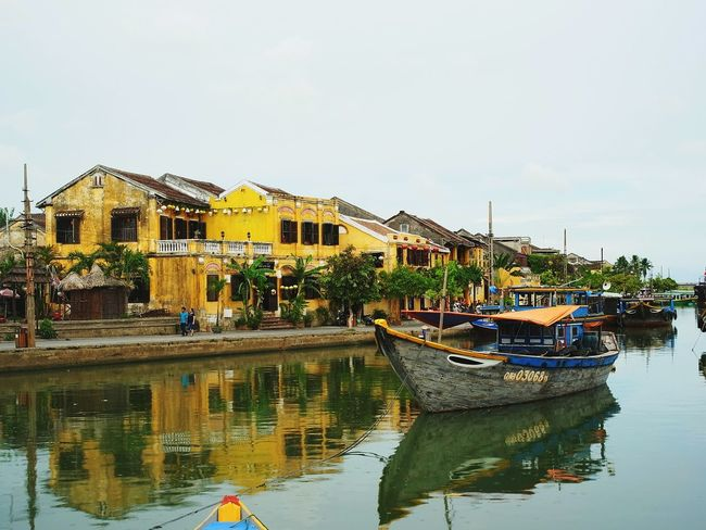 Vietnam Hoian  Hoian, Vietnam Hoi An River Old Town Yellow Histric Place Boat Transportation Architecture Sky Travel Destinations