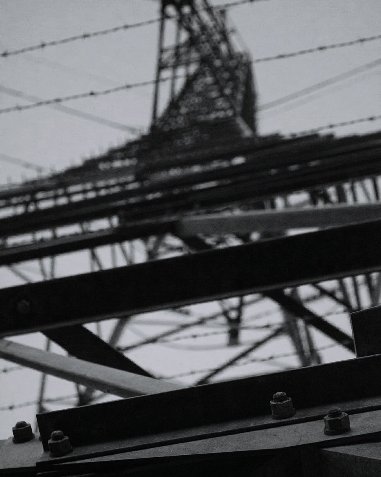 Connection No People Outdoors Day Architecture Sky Grid Metal Technology Silhouette Girder Fuel And Power Generation Electricity  Power Supply Geometric Backgrounds Electricity Pylon Close-up