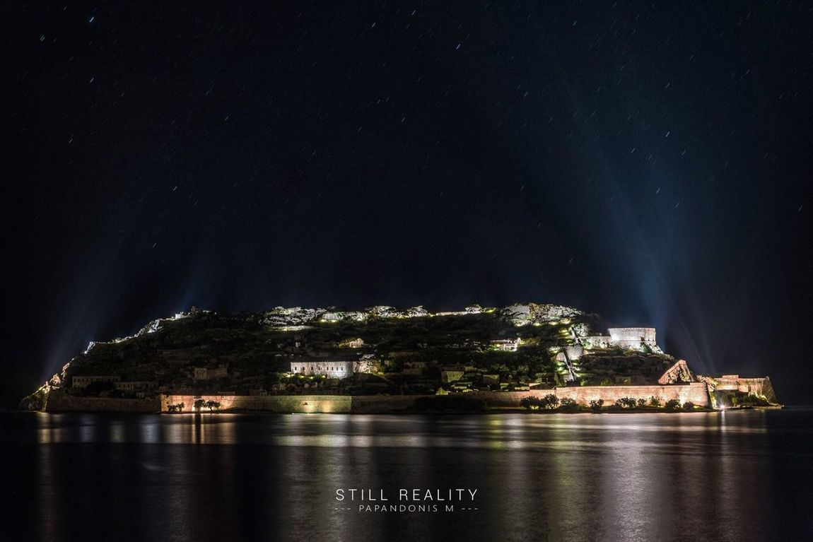 Spinalonga Nightscape HDR (6 captured) Architecture Built Structure Illuminated Building Exterior No People Waterfront Sky Nature Water Star - Space Outdoors Beauty In Nature Travel Destinations Scenics Sea Astronomy Galaxy Spinalonga Elounda Crete Greece