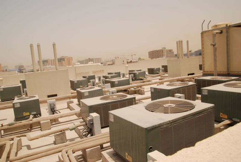Air Conditioner Architecture Building Exterior Built Structure City Cityscape Clear Sky Dubai Hot No People Outdoors Roof Top Sky Skyscraper Summer