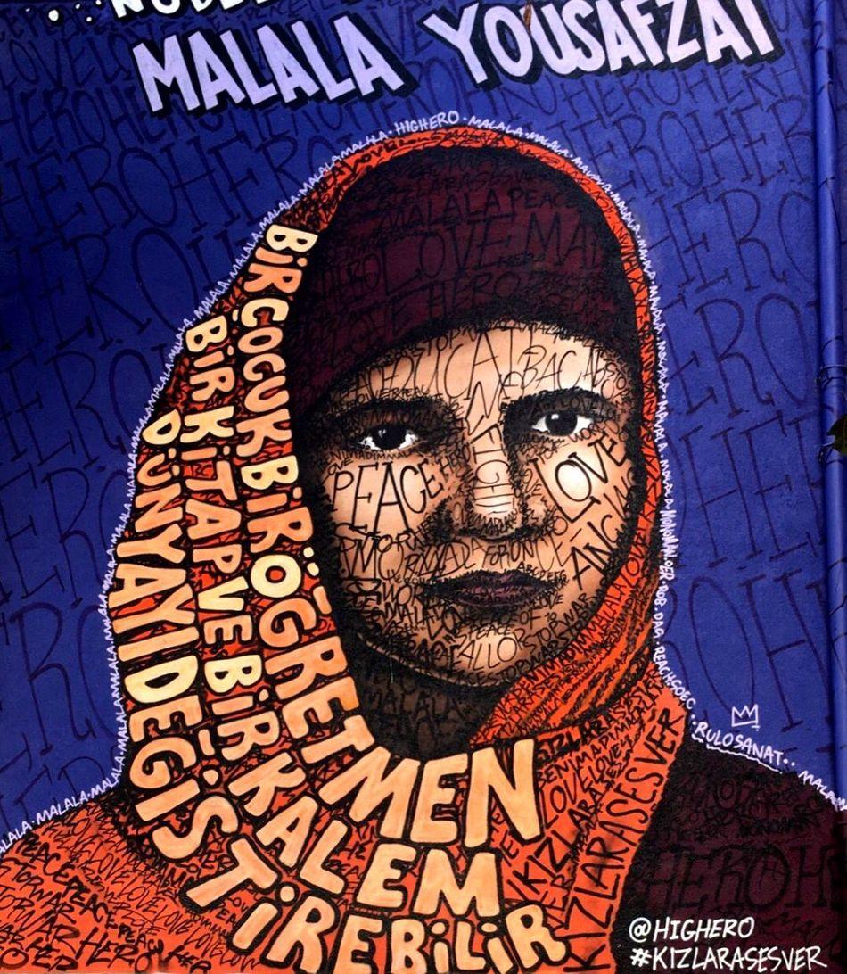 The City Light Nofilter Pattern Text Close-up Day Art Street Graffiti MalalaYousafzai Colors Nobel Peace Prize EyeEmNewHere