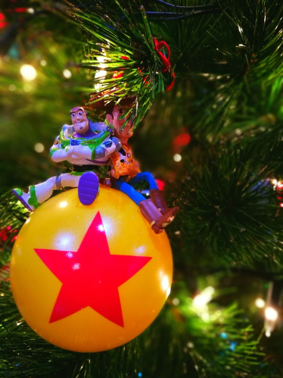 Happy Holidays! Christmas Tree Christmas Celebration Christmas Decoration Christmas Ornament Close-up Pixar  Toystory First Eyeem Photo