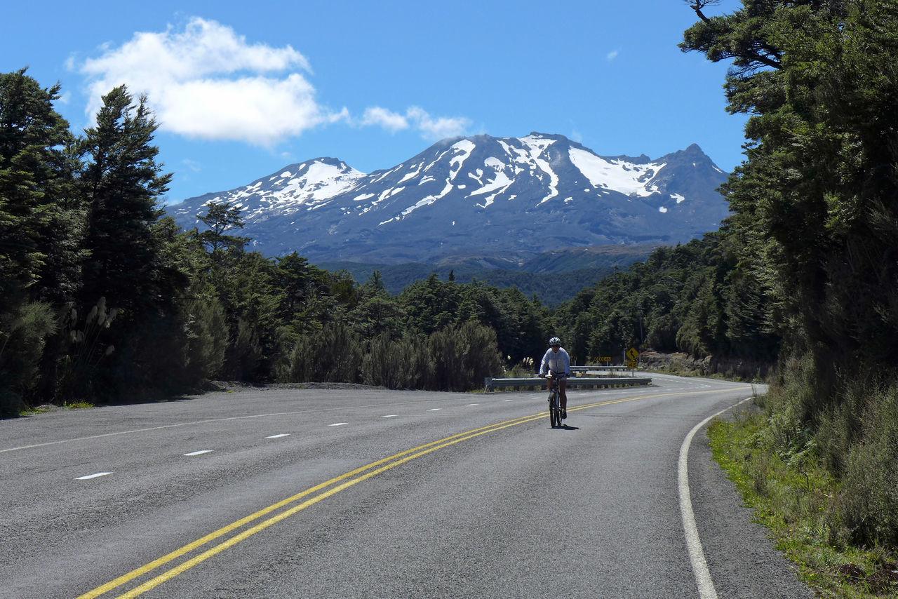 Cycling Downhill Mountain Mountain Range New Zealand Ruapehu Uphill Uphills
