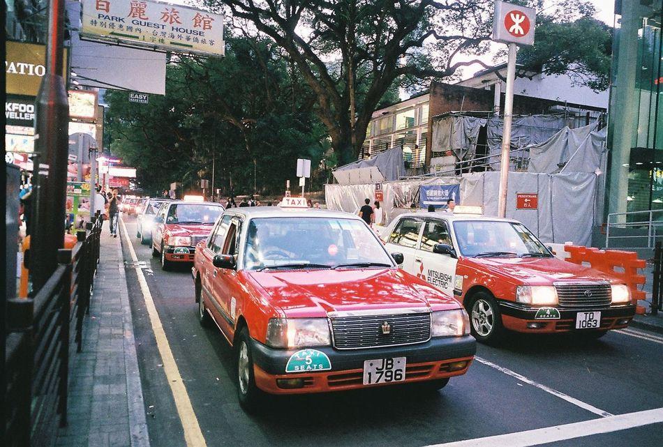 Transportation Mode Of Transport Taxi Cab City Night HongKong HongKong Taxi Street Streetphotography Minolta Tc-1 Minolta Hong Kong Analogue Photography Film Travel
