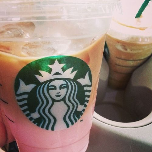 Raspberry caramel macchiato vs caramel frappuccino :9 Coffee Ice Coffeeoftheday Instacoffee