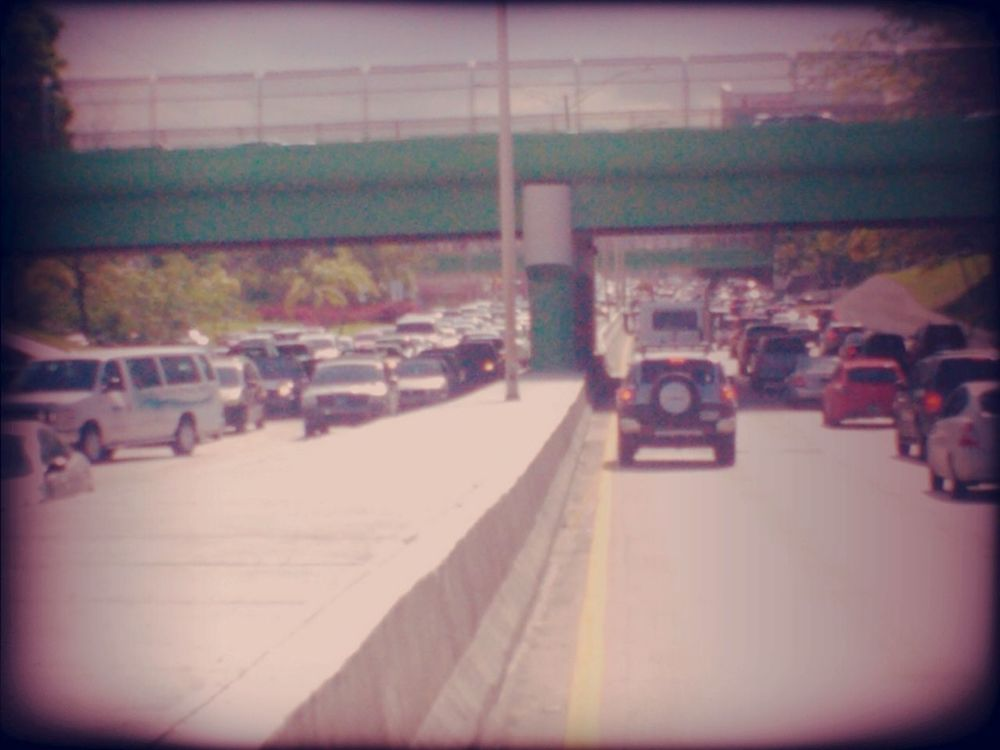 Traffic at Ave. Jesus T Pi~nero by Hector Nazario