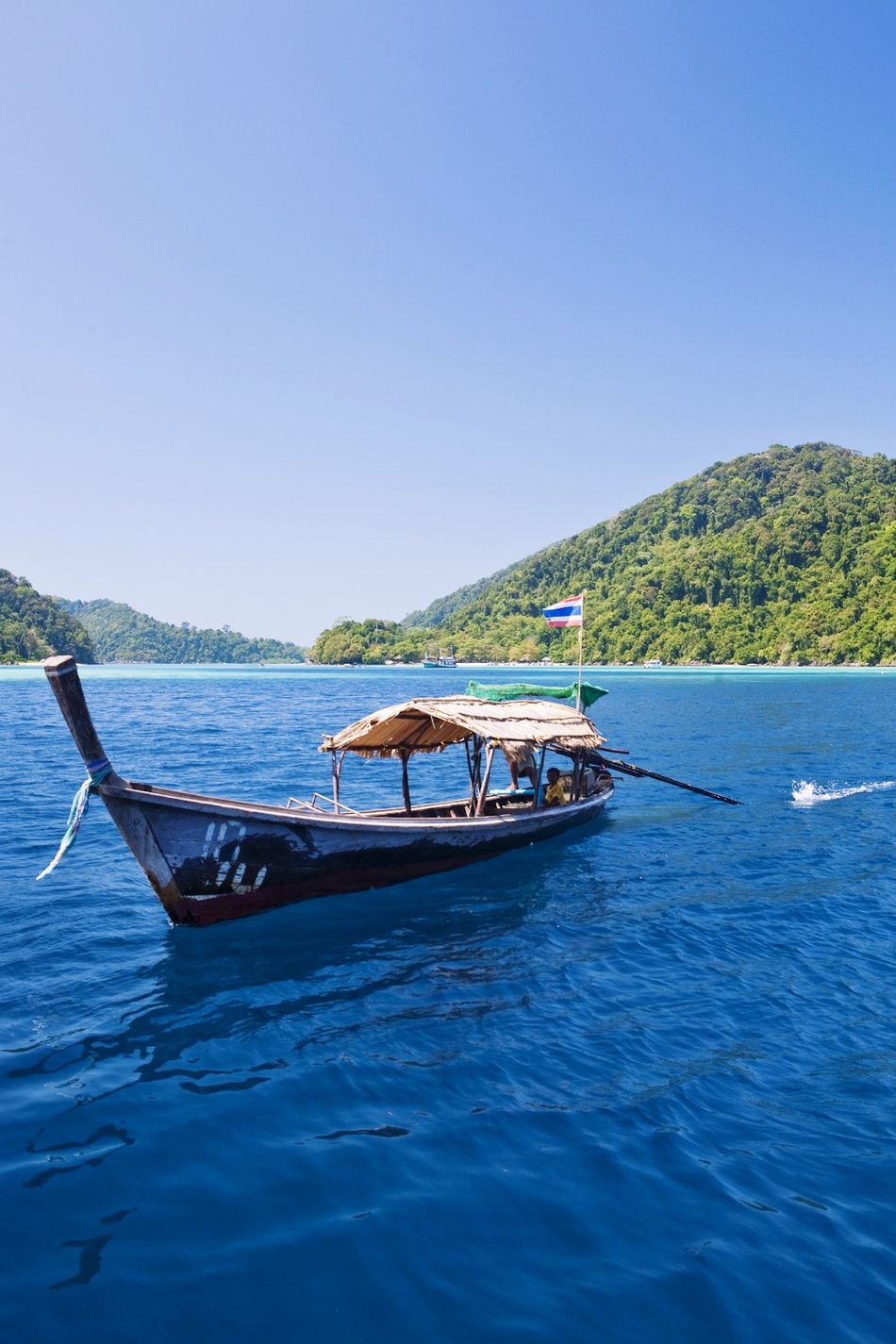 Beautiful stock photos of thai, Blue, Boat, Clear Sky, Copy Space
