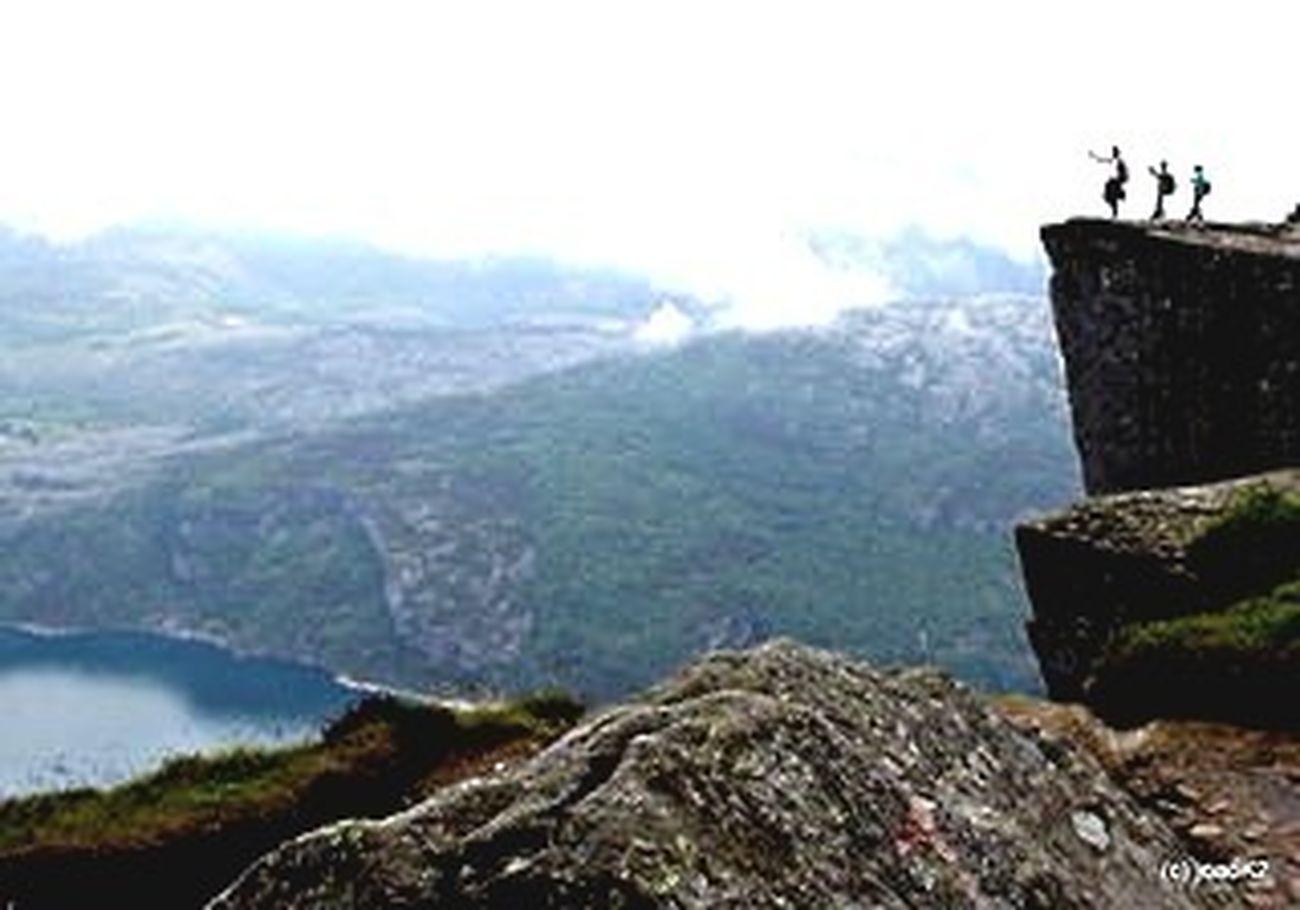 Preikestolen, Norway (tomo2) Nature Mountains Landscape Travel Norway Fjord Norge Eye4photography  Noruega Preikestolen Traveling