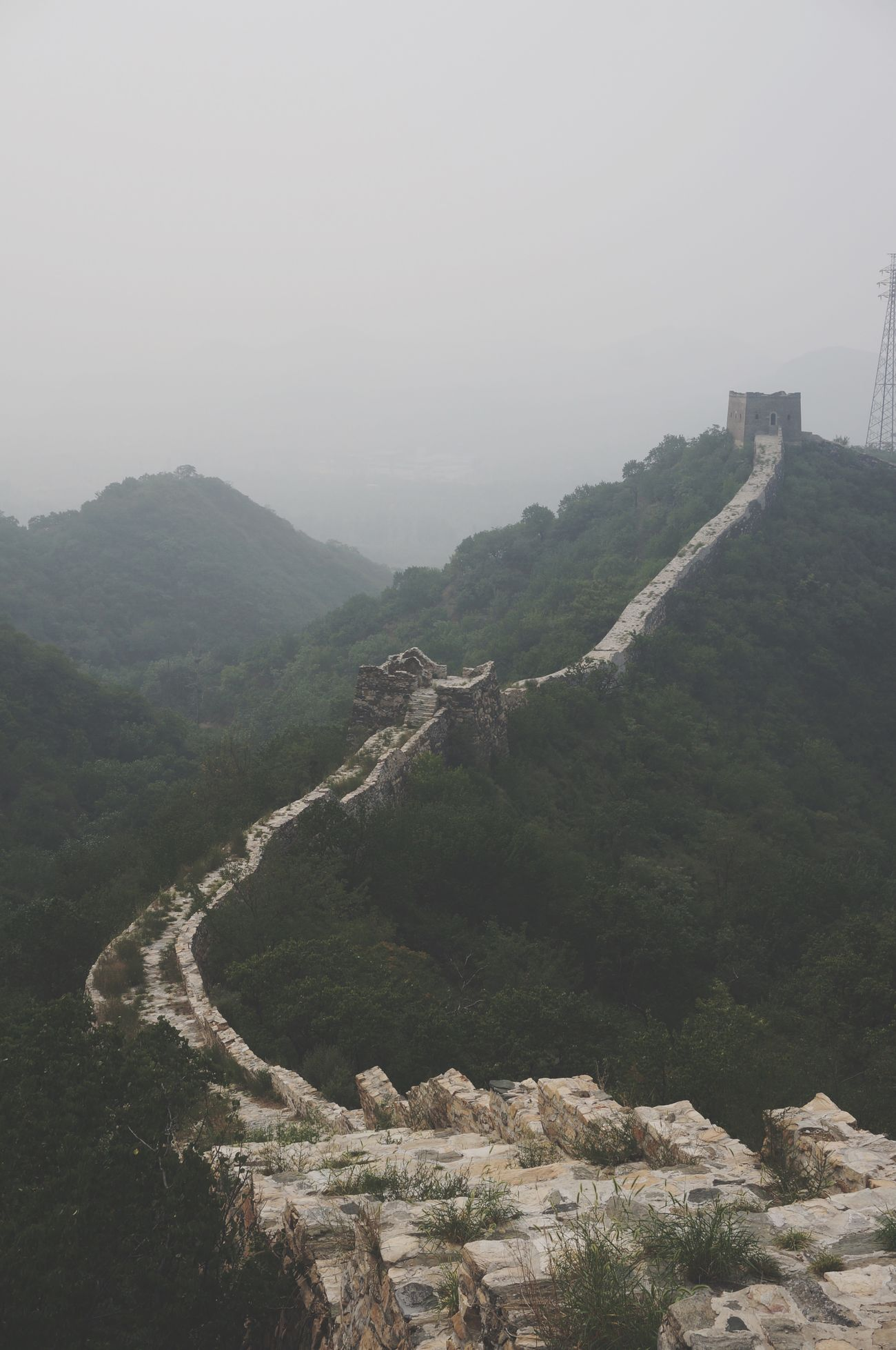 Landscape Great Views Photos 365 Hiking Great Wall Of China The Great Wall Foggy Morning Mountain View