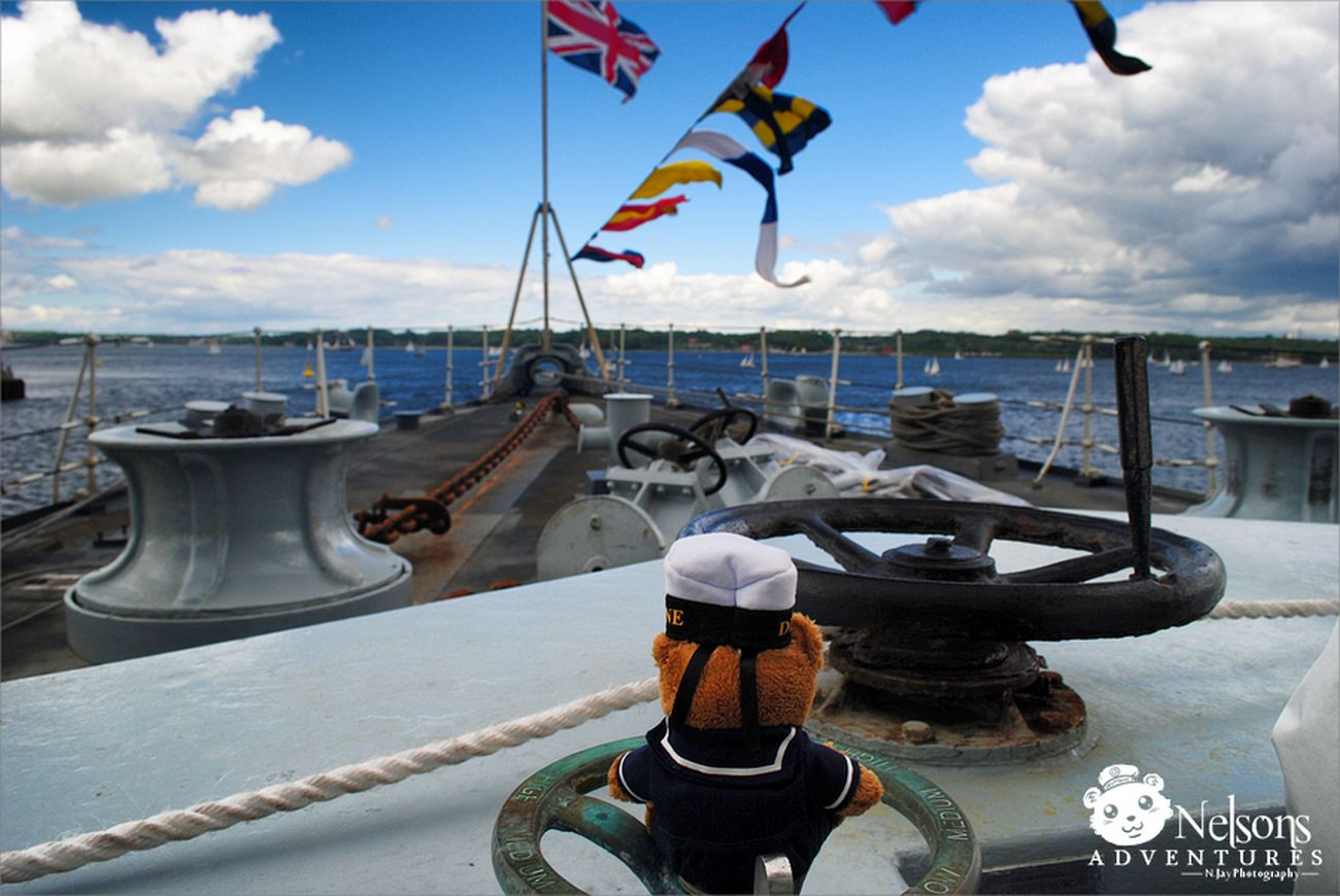 Nelson on the HMS Montrose NelsonsAdventures Ship Malephotographerofthemonth Taking Photos Navy Boat Teddy Royal Navy