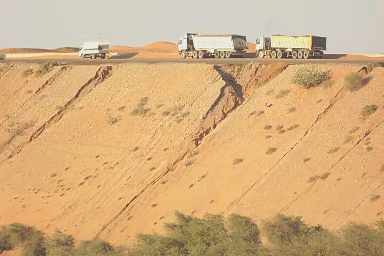 Heavy Trucks Ontheroad Roadsidephotography Drive Carefully Eyem Gallery Desrt Environment