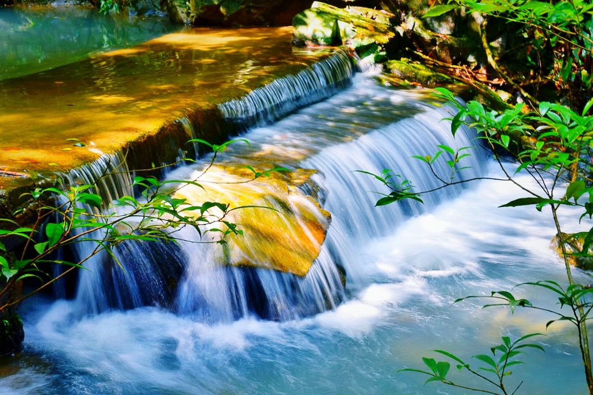 Water Flowing Water Motion Beauty In Nature Nature Waterfall 梦幻 NIKON D5300 旅行摄影 Casual Clothing Relaxation Plant Nikon 这是我的城市 风光摄影