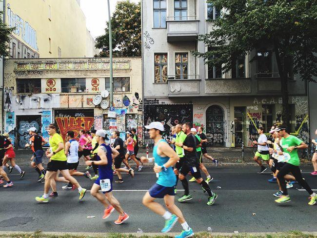 Run! Marathon Runners Group Of People Motivation Overcome Sport
