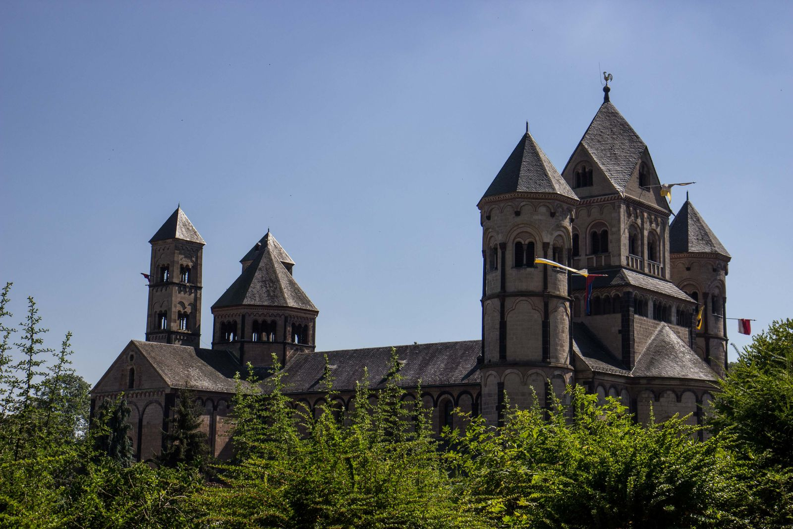 Architecture Built Structure Church History Low Angle View Maria Laach Maria Laach Abbey Religion Spirituality