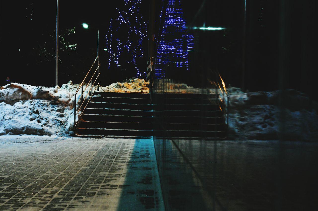 winter, snow, cold temperature, night, no people, illuminated, indoors, water, nature, close-up