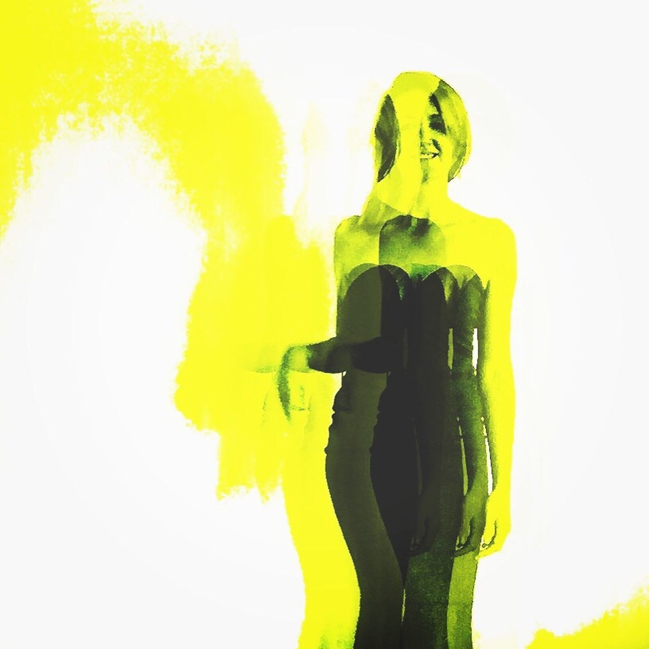Andy Warhol Velvet Underground Yellow WIWT Decim8 Dress One Person White Background Tall Dresses Silhouette Ootd Scotland