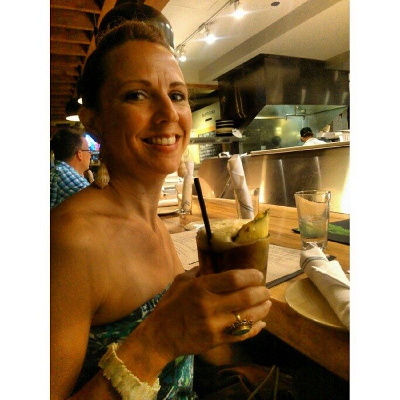 She's happy!!! Maitai Drink Drank Cocktail
