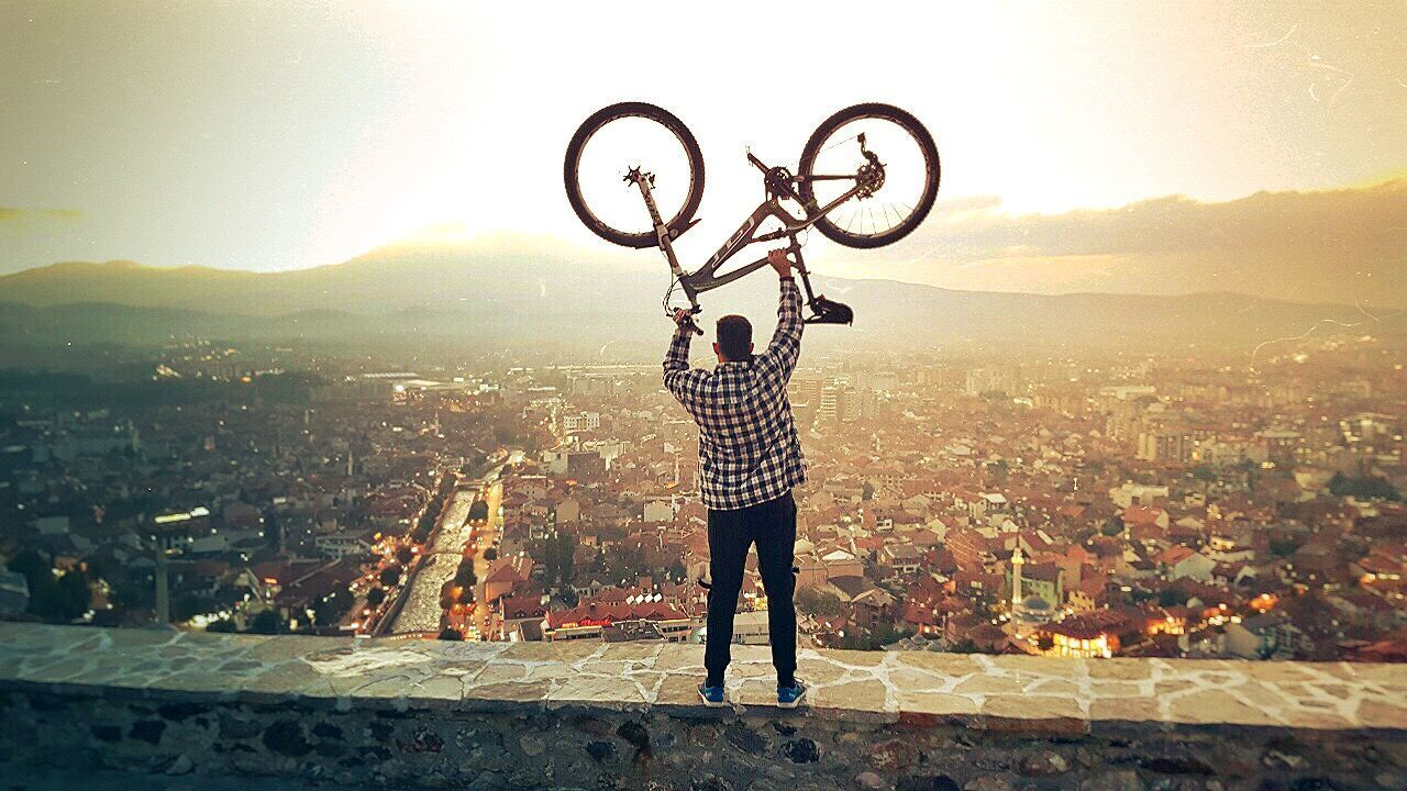 Cityscape One Person Sunset Architecture KosovoinUNESCO Kosovo-Prizren Bicycle Parnorama Castle View EyeEm Best Edits Color Photography Eyemphotography Eyembestpics EyeEm Best Shots Eyeemphotography EyeEm Selects
