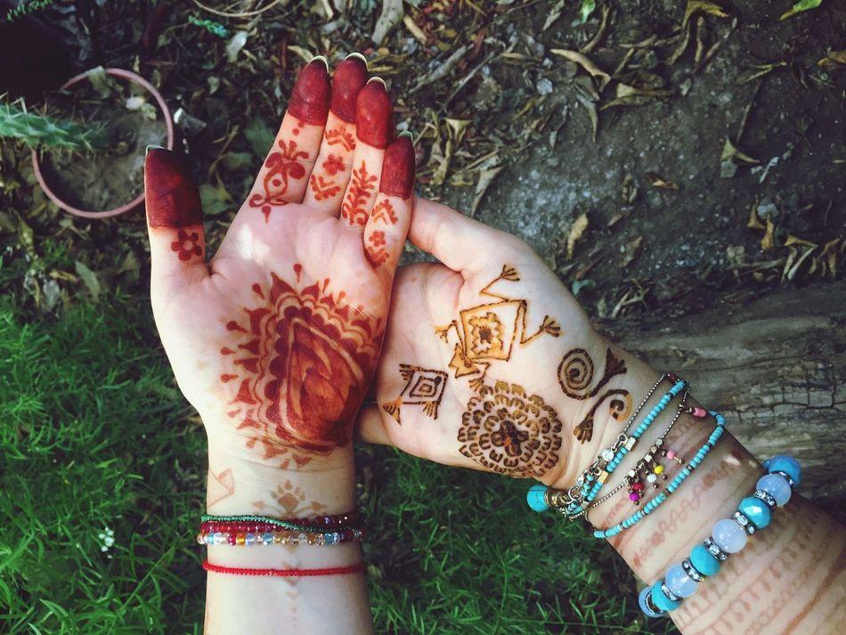My hands ☺🖐🏻🤚🏻🌿 One Person Outdoors Human Hand Mehandi  Mehandiart Mehndi MehndiDesign MehndiTattoos