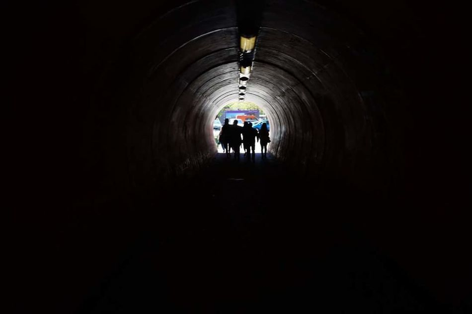 End of the Tunnel Light Dark Black And White Friends France Silhouettes Cool Photography