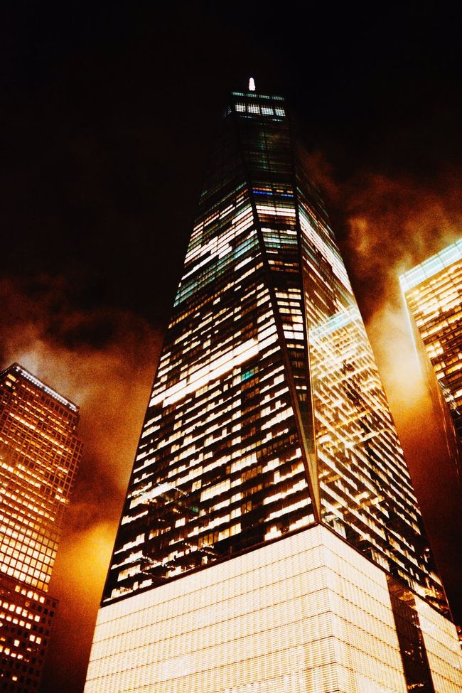 World Trade Center during nighttime! World Trade Center WTC Building Sky Scrapers Sky Scraper New York New York City Night Photography Night Time Lights Beautiful