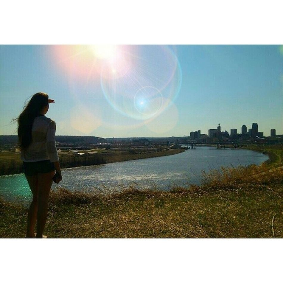Minnesota 💕I will be adding my better quality one. These photos are from my Instagram. 😄 Beauitful Gorgeous Girl Me Looking Into The Future Staring At The Sun Stairing At The Sunset Lovely Lovely Day Sunny Lens Flare Skyline Skyporn Cliff Cliff Edge River
