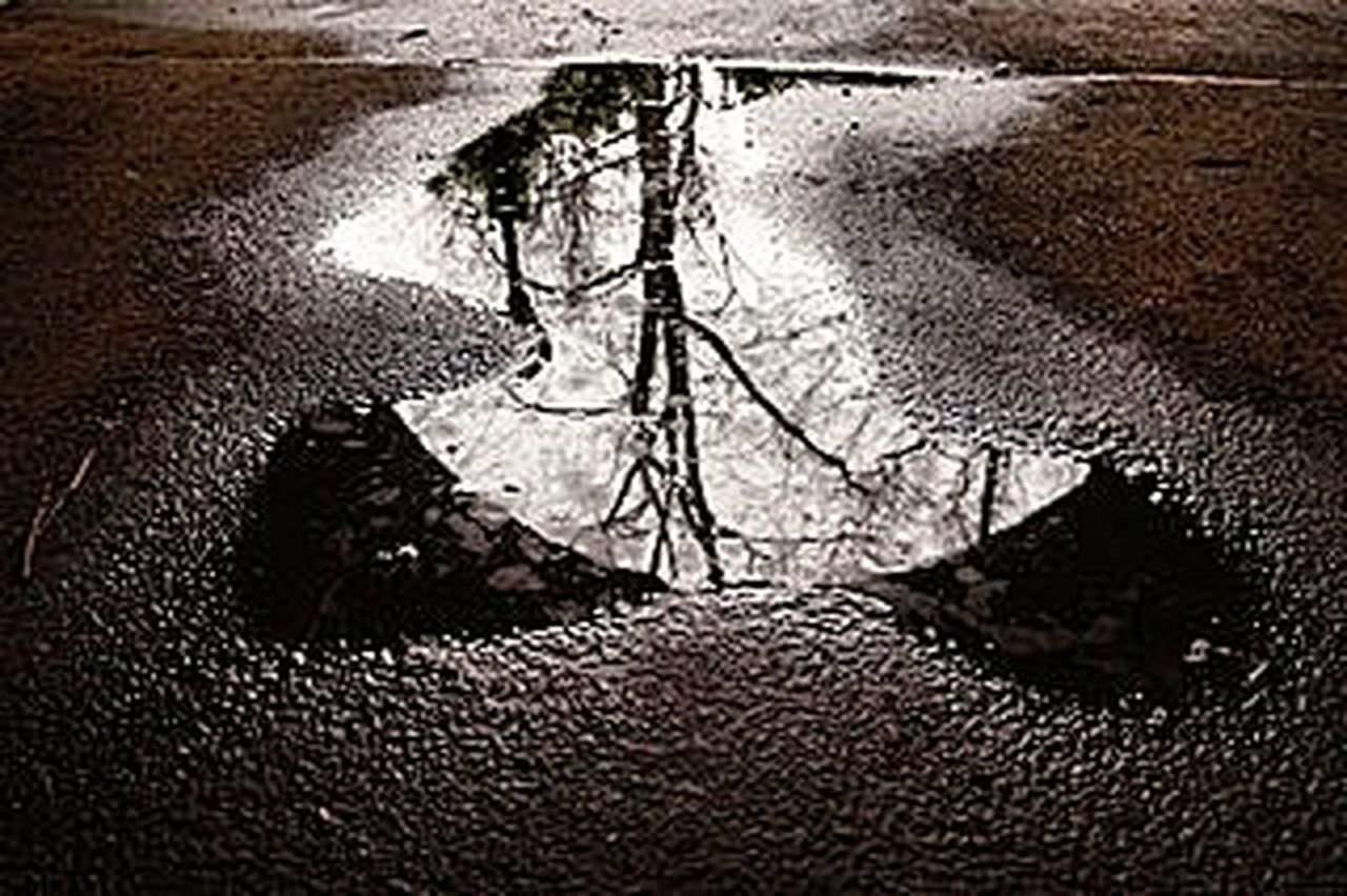 water, drop, reflection, wet, puddle, no people, cracked, close-up, textured, backgrounds, indoors, day