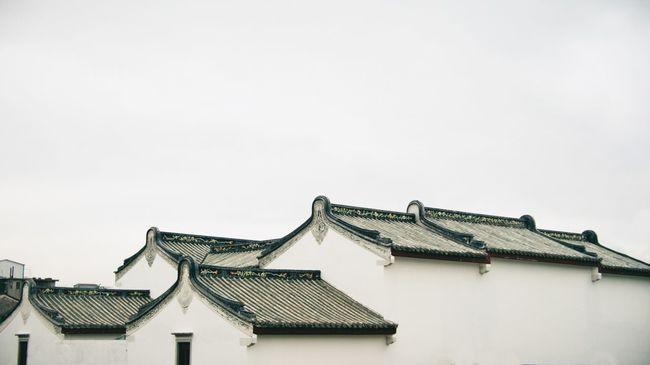 鱗次櫛比 Chaozhou China Swatow Shantou Blackandwhite