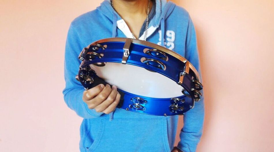 Music in me. Tambourine Design People Indoors  Music Praise Worship Blue One Person Standing Human Hand Human Body Part Instruments Blue