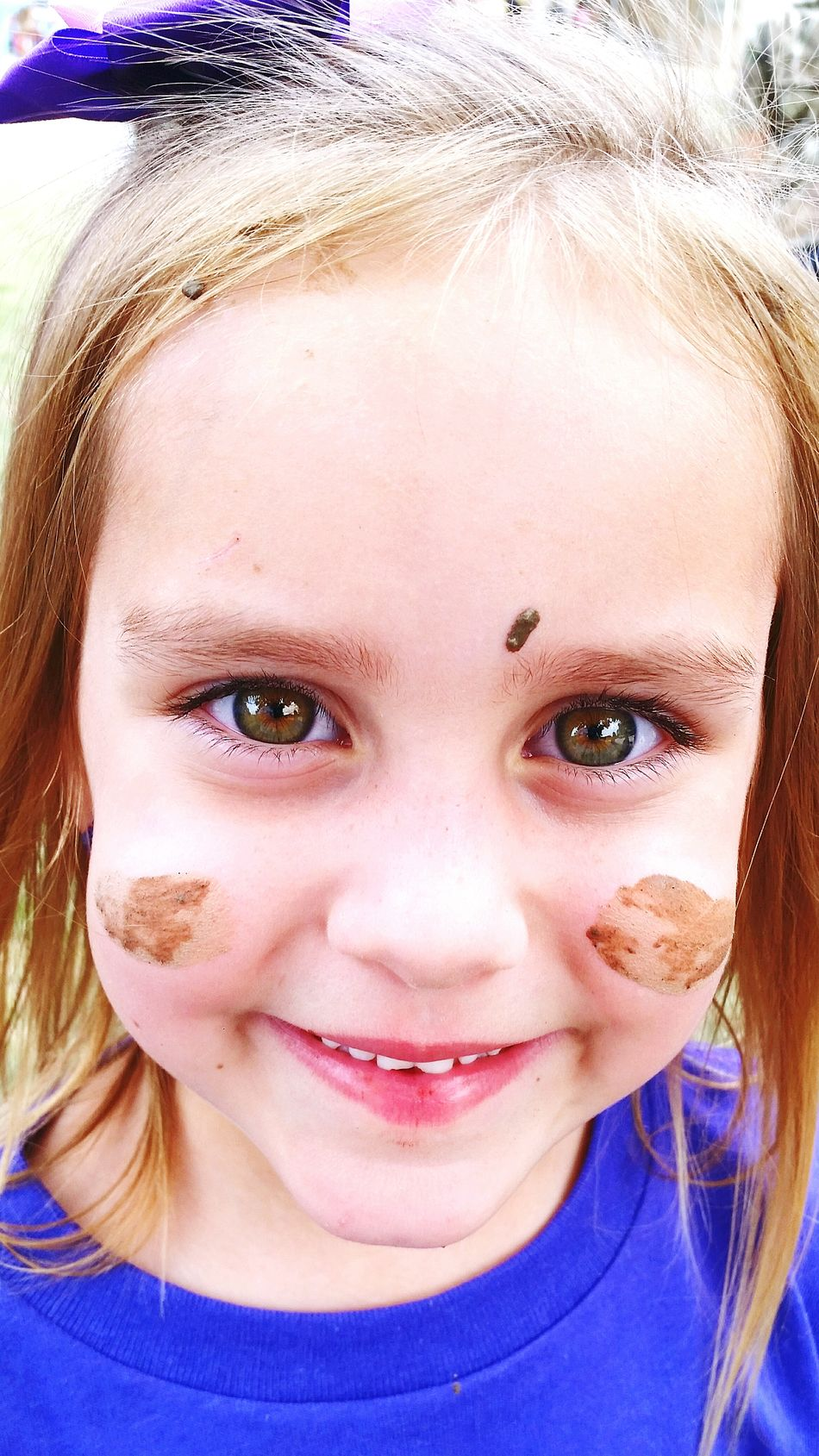 Faces In Places Big Green Eyes Mud War Paint MommysGirl