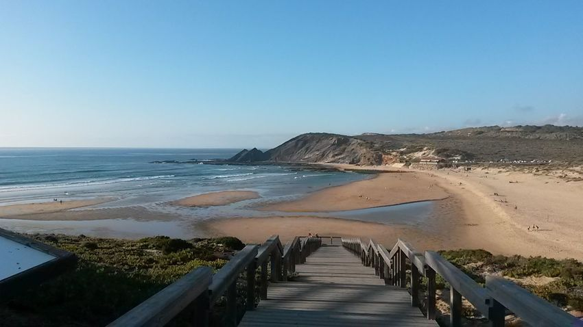 Beach Outdoors Beauty In Nature Landscape Vacations Scenics Alentejo-Portugal Sunset Stairs
