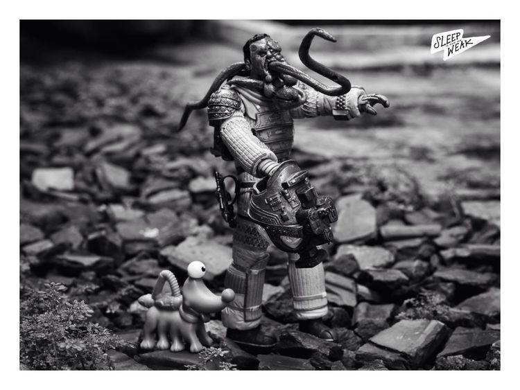 Space Walker! Left4dead Alien Spaceman Toy Photography Photography Blackandwhite Blackandwhite Photography Zombie Neca Necatoys