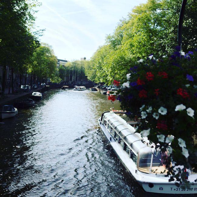 Hollantreetphotography] Amesterdam River Boats Flowers Hello World Eye4photography  EyeEmBestPics EyeEm Best Shots