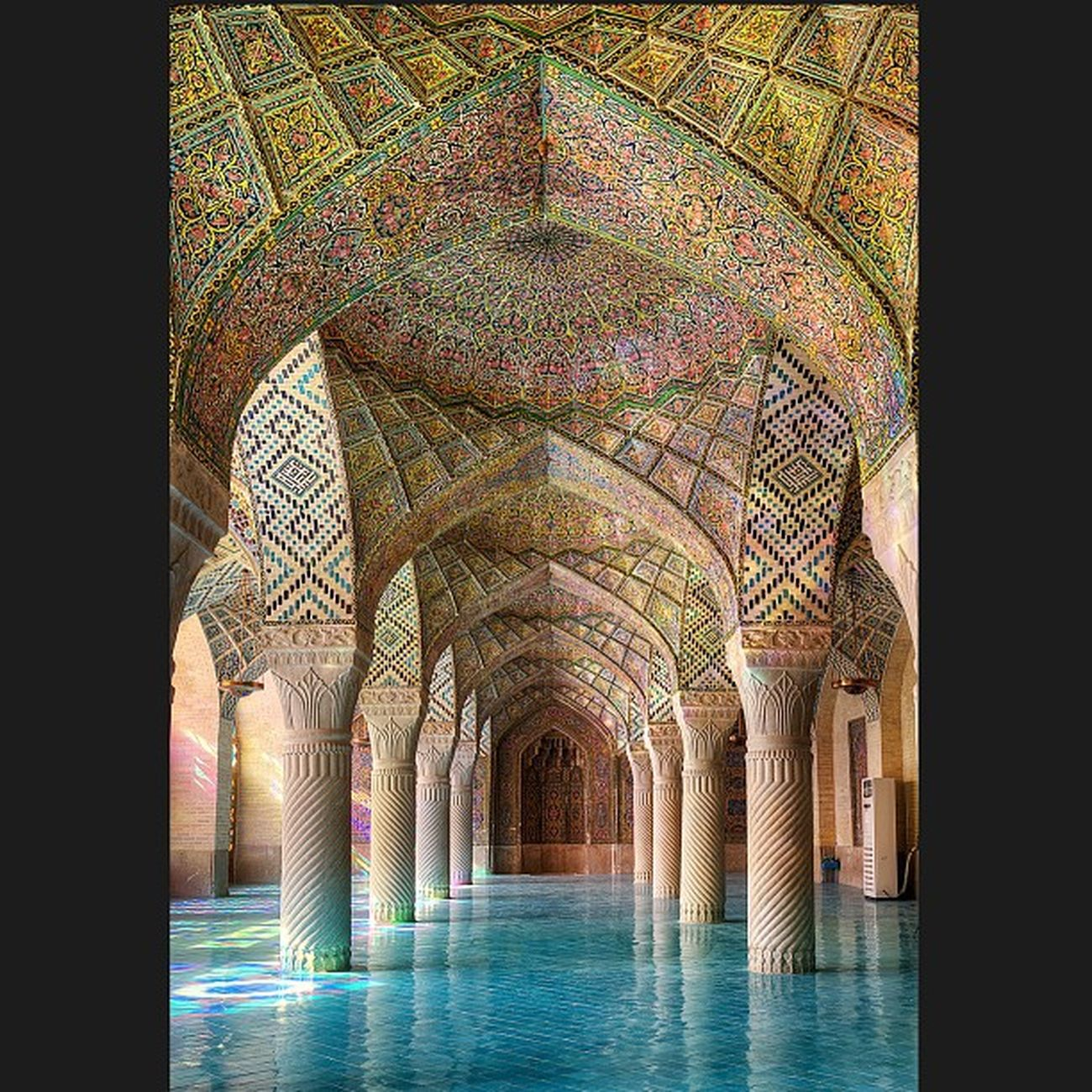 The Mosque of Colors - here is Nasir -ol-MOLK Mosque - Shīrāz - Iran . از مجموعه مسجد رنگها - مسجد نصیرالملک - شیراز - ایران Photo by: Ramin Rahmani Nejad