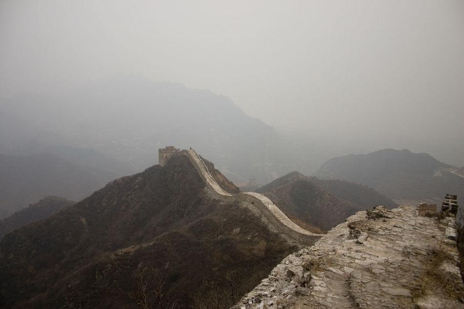 ASIA Big Wall Brick Wall China Foggy Weather Great Walk Great Wall Of China Travel Photography
