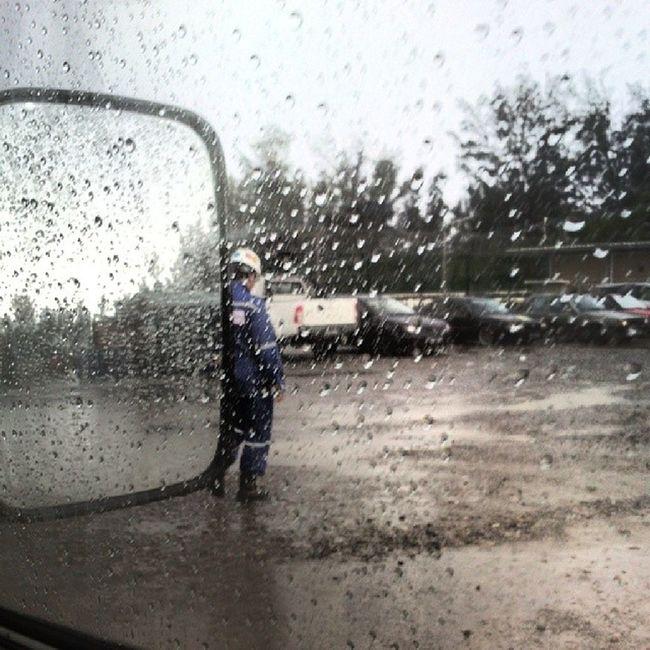 Raining. Work mode