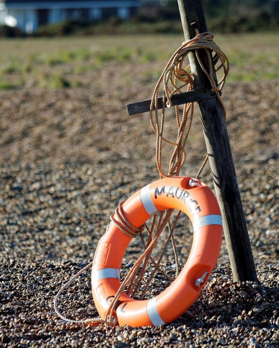 Lifebuoy at shingle street Outdoors Beach Beach Walk Beach View Lifebuoy Lifebuoy Ring Shingle Beach Shingle Street Post