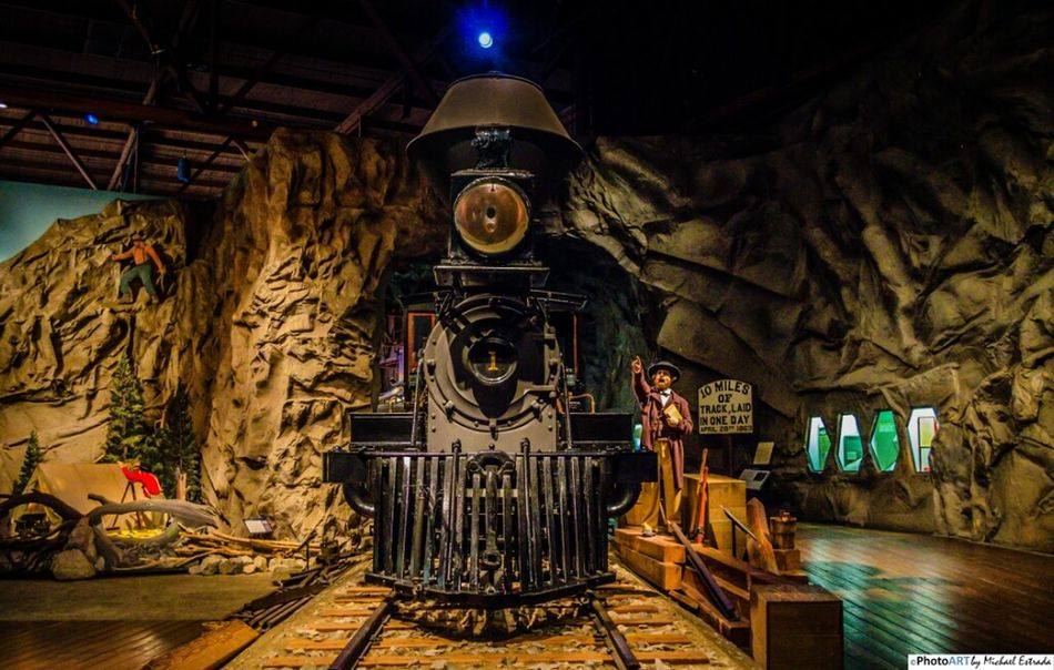 Locomotive 1, Gov. Stanford - Built in 1862, it was first a wood burner but later converted to coal. It could haul three coaches or ten freight cars over the steep grades through the Sierra Mountains east of Sacramento. Train Railroad Nikon Trains Steam Trains Steam Locomotive Old West