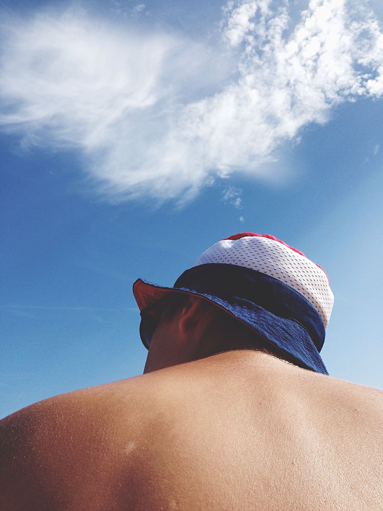 Hat Bob Bluewhitered USA Beach Boyfriend