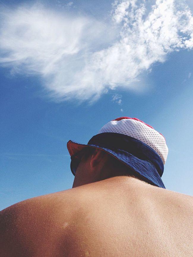 Hat Bob Bluewhitered USA Beach Boyfriend