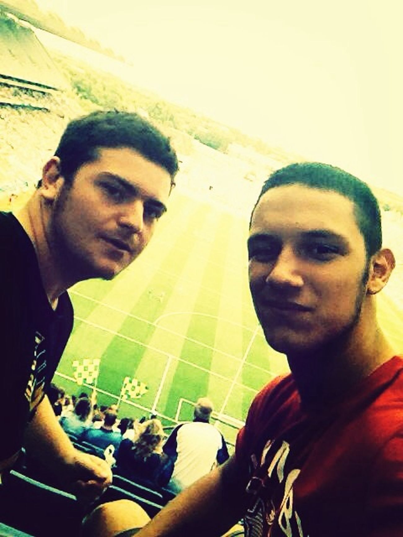 I and Tommaso at CrokePark for to watch Gaelic Football