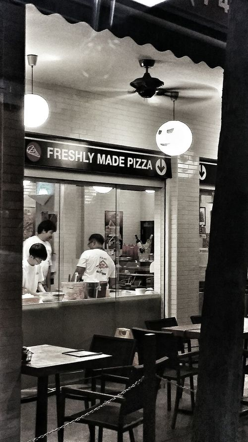 Taken from the bus Pizza Shop Kneading Dough Window Fast Food