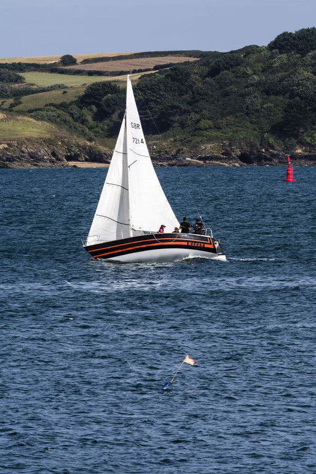 Beauty In Nature Blue Blue Wave Boat Calm Cornwall Falmouth Incidental People Non-urban Scene Outdoors Regatta Remote Rippled Sailboat Sailing Scenics Sea Sky Tranquil Scene Tranquility Water Waterfront